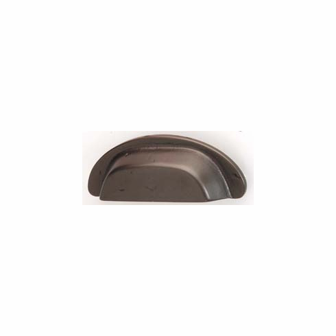 Hafele 151.92.100 Cup handle, Arcadian, brass, old bronze, 126BR19, M4, center to center 90mm (each)