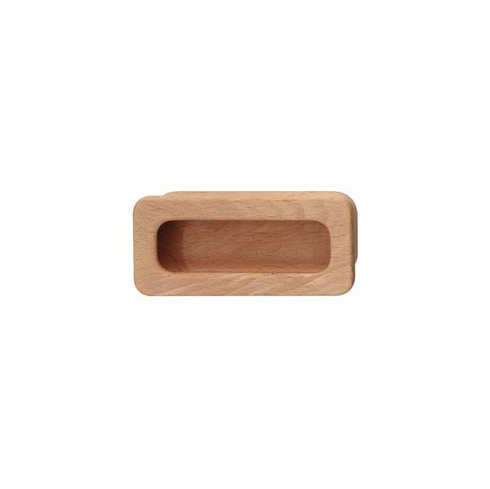 Hafele 192.29.300 Flush Handle, beech, 110 x 50mm (each)