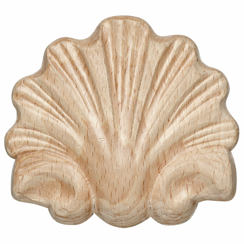 """Hafele 194.78.135 19478135 Carved Onlay, shell, maple, 3-1/4 x 2-15/16"""""""