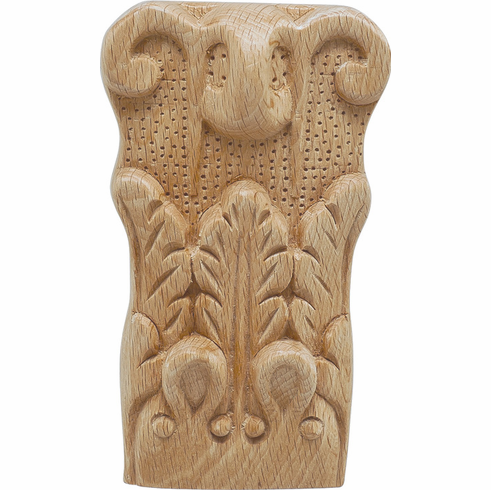 """Hafele 194.78.365 19478365 Carved Ornament, acanthus, beech, 2 15/16 x 5 x 1 1/2"""""""