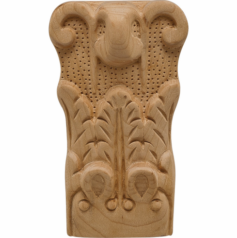 """Hafele 194.78.665 19478665 Carved Ornament, acanthus, cherry, 2 15/16 x 5 x 1 1/2"""""""