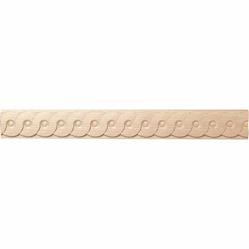 """Hafele 194.79.330 19479330 Carved Moulding, serpentine, beech, 3/4 x 1/4 x 96"""""""