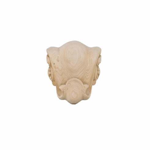 """Hafele 198.03.110 19803110 Carved Ornament, Chateau, maple, 5 7/8 x 5 7/8"""""""