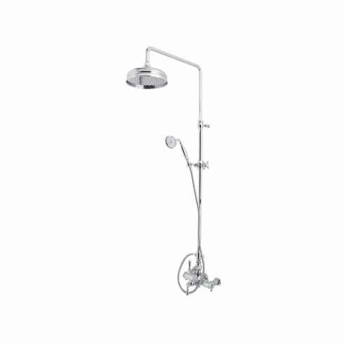 Rohl AKIT29171LMPN **KIT** ROHL COUNTRY BATH VERONA EXPOSED THERMOSTATIC SHOWER PACKAGE WITH METAL LEVERS IN POLISHED NICKEL INCLUDES A2917LM 1560 1101/8 AND 1037/8
