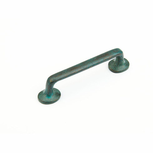 "Schaub 777-VI Cast Bronze, Cast Bronze Mountain, Pull, 4""cc, Verde Imperiale finish"