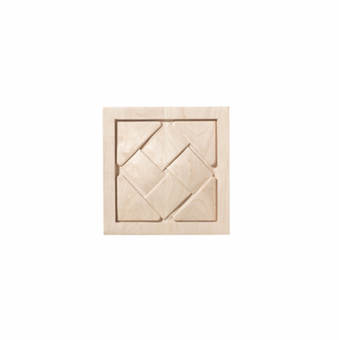 """Hafele 198.11.110 19811110 Carved Ornament, Cottage, maple, 5 7/8 x 5 7/8"""""""