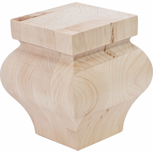 """Hafele 198.16.120 19816120 Foot, Hannover, maple, 3 5/8"""" x 3 5/8"""" x 4"""""""