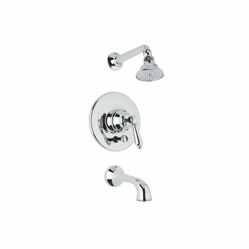 Rohl AKIT32XM-PN **KIT** ROHL COUNTRY BATH SHOWER PACKAGE IN POLISHED NICKEL WITH CROSS HANDLE INCLUDES C5504 A2400XM AND C2503