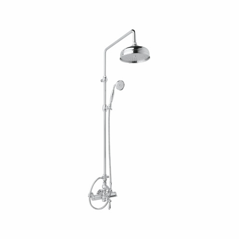 Rohl AKIT49171LPAPC **KIT** ROHL COUNTRY BATH EXPOSED THERMOSTATIC SHOWER PACKAGE WITH PORCELAIN LEVERS IN POLISHED CHROME INCLUDES A4917LP 1560 1100/8 AND 1037/8