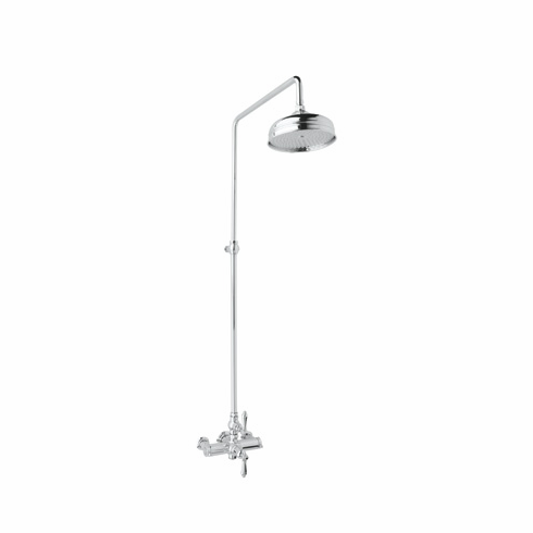 ROHL AKIT49172LPSTN **Kit** Rohl Country Bath Exposed Thermostatic Shower Package With Porcelain Levers In Satin Nickel Includes A4917Lp 1565 And 1037/8