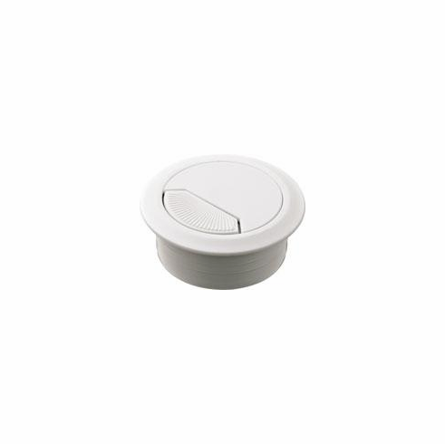 Hafele 429.99.735 Cable Grommet, two-piece, plastic, white, 50mm (each)