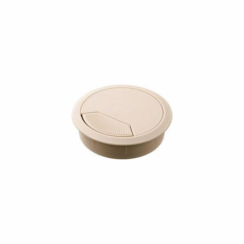 Hafele 429.99.048 Cable Grommet, two-piece, plastic, almond, 80mm (each)