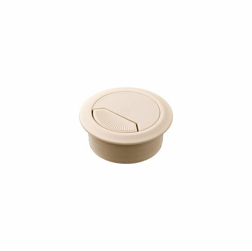 Hafele 429.99.039 Cable Grommet, two-piece, plastic, almond, 50mm (each)