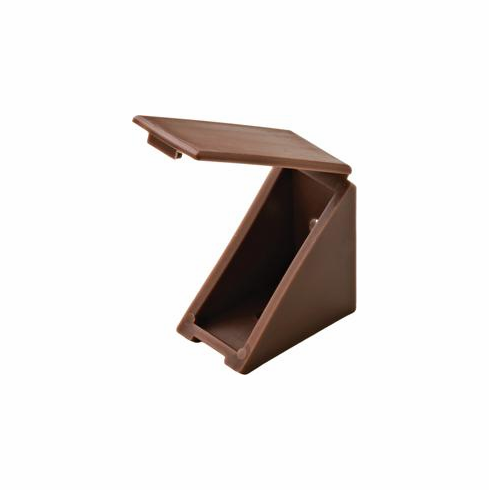 Hafele 260.24.140 Angle Bracket, brown, with cover cap, 19 x 34 x 34mm (each)