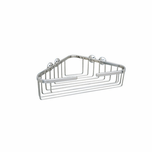 ROHL BSK15PN Rohl Wall Mounted Large Corner Basket 13 1/4^ Wide X 3 1/2^ Deep X 8 1/4^ From Corner To Front Edge In Polished Nickel