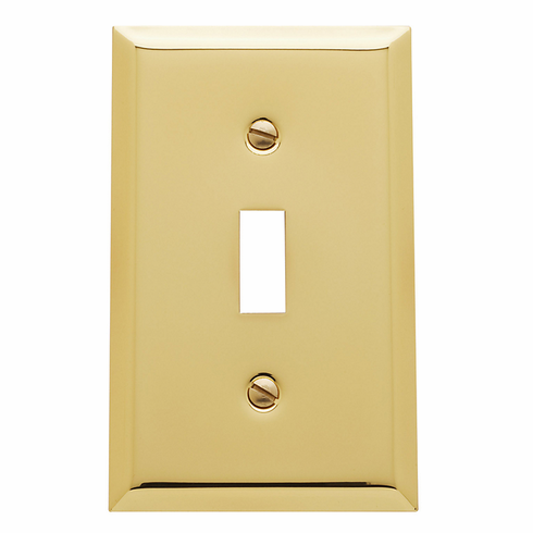 Baldwin 4751 Single Toggle Classic Square Bevel Design Switchplate: Switch Plate Size 4.5 inch x 2.75 inch (114 x 70 mm)
