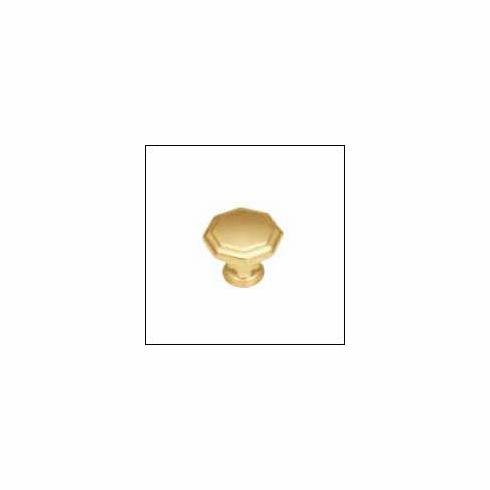 "Belwith/Hickory Conquest P14004-3  Knob, 1-1/8"" Dia Polished Brass (EA)"