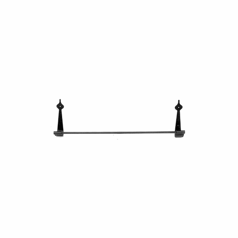 "Acorn AB7BP TB-18 18"" Towel Bar Smooth Iron - Black (Each)"