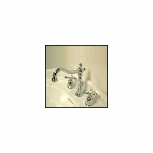 Kingston Brass KB1971AX Heritage Widespread Lavatory Faucet Polished Chrome