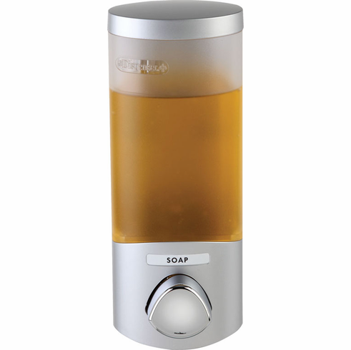 UNO 76134-1 Satin Silver, Translucent Container with Chrome Buttons Bath Dispenser