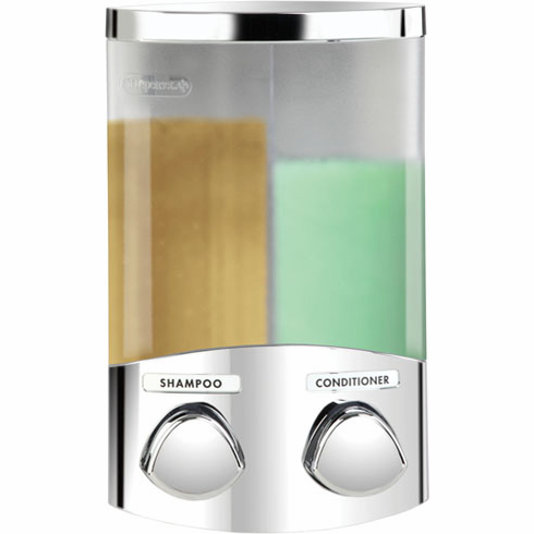DUO 76244 -1 Chrome, Translucent Container with Chrome Buttons Bath Dispenser