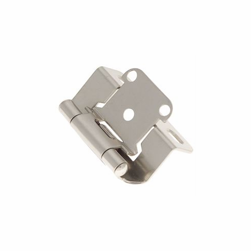 Belwith/Hickory Surface Self-Closing P2710F-SN  Hinge, Semi-Concealed Satin Nickel (EA)