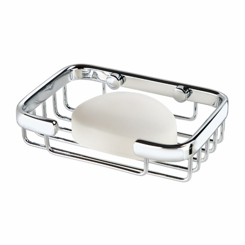 Bath Boutique 11252 Traditional Soap Basket Chrome Finish on Solid Brass