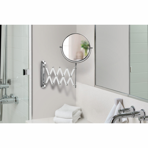 """New Vantage 13541 8"""" Chrome Mirror with Wall Mount, 5X Magnify"""