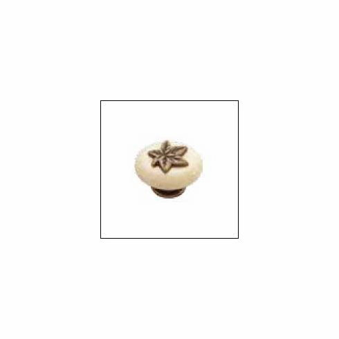 """Belwith/Hickory Country Casual P3031-WOAO  Knob, 1-1/2"""" X 1-1/4"""" Oval Windover Antique w/Oatmeal (EA)"""