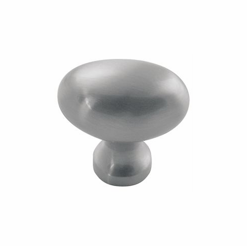 "Belwith/Hickory Williamsburg P3054-SS  Knob, 1-1/4"" X 13/16"" Oval Stainless Steel (EA)"