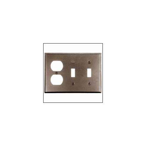 Acorn AW7BP 0322 Duplex Wall Plate 2/Toggle Smooth Iron - Black (Each)