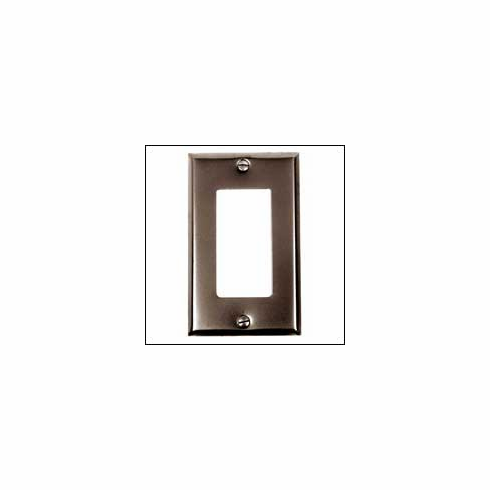 Acorn AW9BP Ground Fault Wall Plate Smooth Iron - Black (Each)