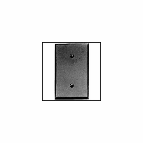 Acorn AWJBP Blank Switchplate Smooth Iron - Black (Each)