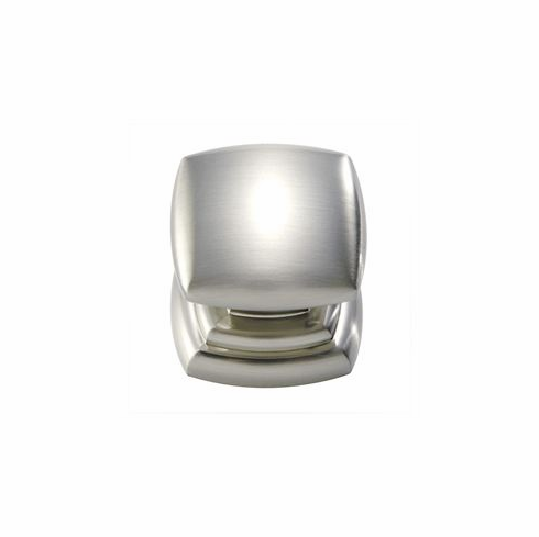 "Belwith/Hickory Euro-Contemporary P3181-SN  Knob, 1-1/4"" Sq Satin Nickel (EA)"