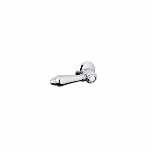 ROHL C7950LHPN Rohl Country Bath Universal Fit Hex Metal Toilet Tank Flush Handle In Polished Nickel With Trip Lever Arm