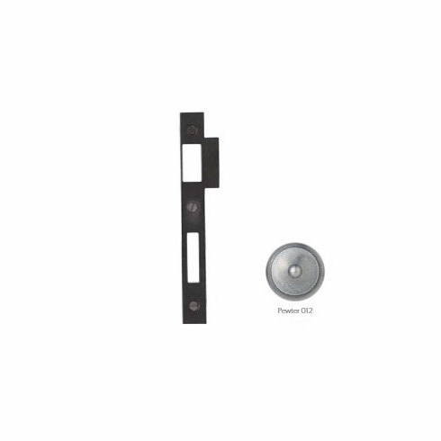 "Bouvet 9555-56-012 Extended Strike for Mortise Lock, For 2-50, 3-50, 5-40, 5-50 Mortise locks, size: 6.7/8"" x 1.3/4"", Pewter"