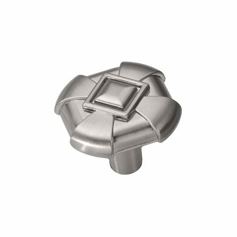 """Belwith/Hickory Chelsea P3455-SS  Knob, 1-1/8"""" Sq Stainless Steel (EA)"""