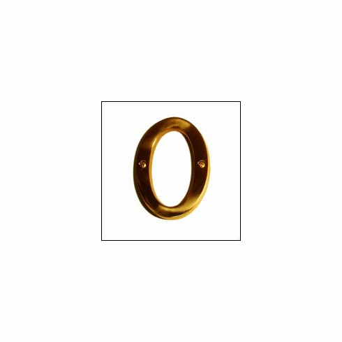 """Brass Accents I07-L91O0 Traditional Letter O 4"""""""