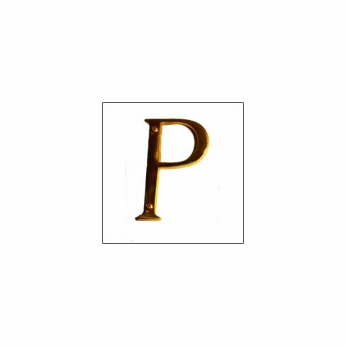 Brass Accents I07-L91P0 Traditional Letter P 4""