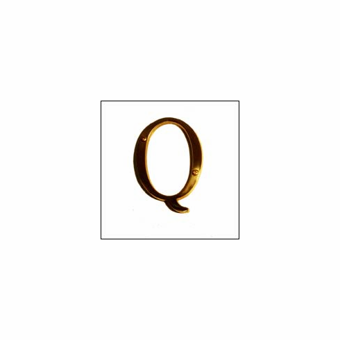 """Brass Accents I07-L91Q0 Traditional Letter Q 4"""""""
