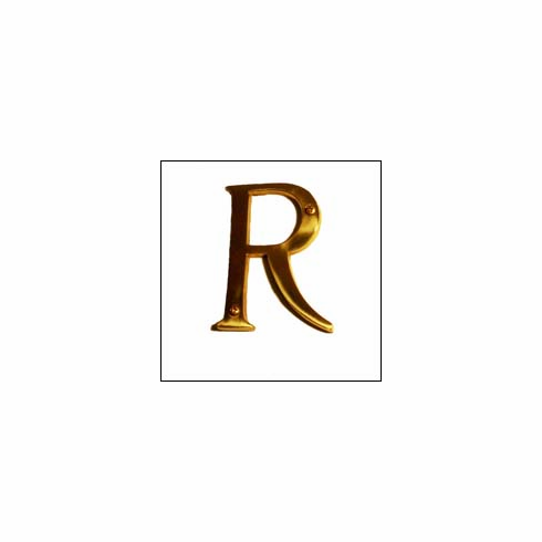 Brass Accents I07-L91R0 Traditional Letter R 4""
