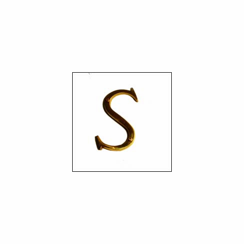 """Brass Accents I07-L91S0 Traditional Letter S 4"""""""