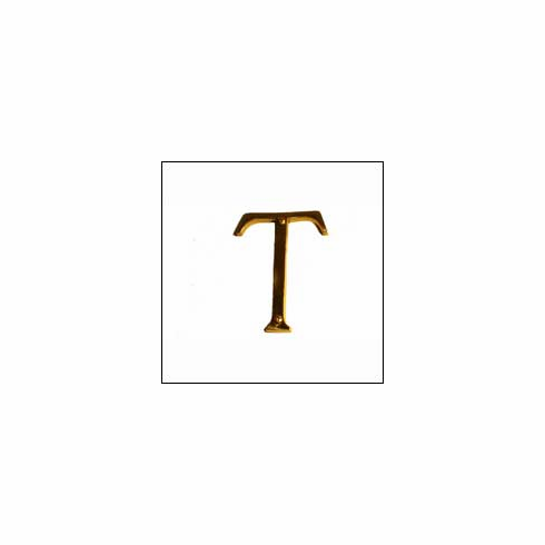 Brass Accents I07-L91T0 Traditional Letter T 4""