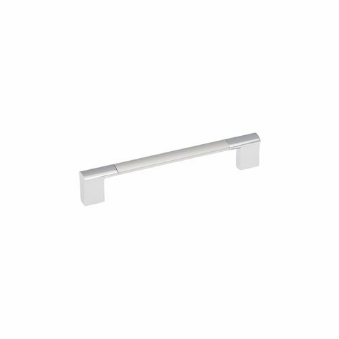 Belwith/Hickory Dew P3699-CHSP  Pull, 128Mm C/C Chrome with Satin Pearl (EA)