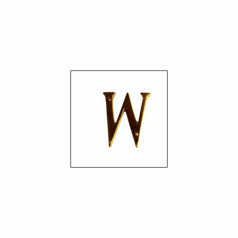 """Brass Accents I07-L91W0 Traditional Letter W 4"""""""