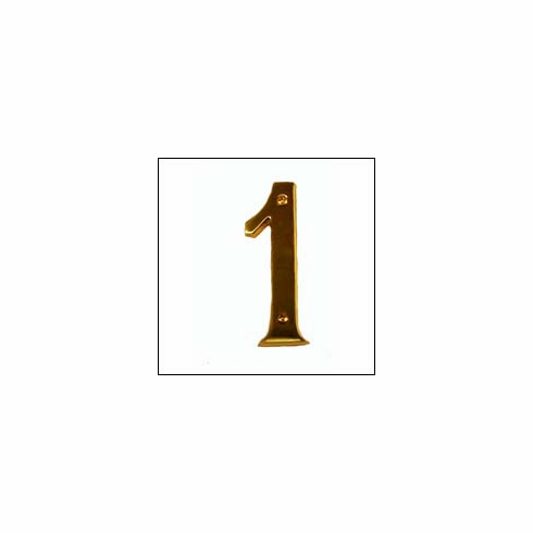 """Brass Accents I07-N5310 Traditional Raised Numeral 1 4"""""""