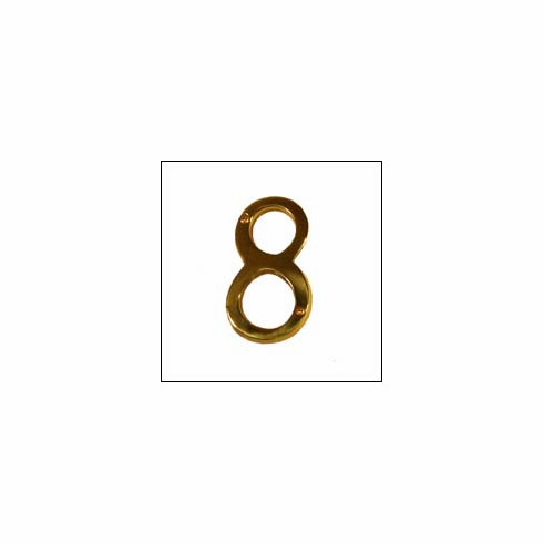 """Brass Accents I07-N5380 Traditional Raised Numeral 8 4"""""""