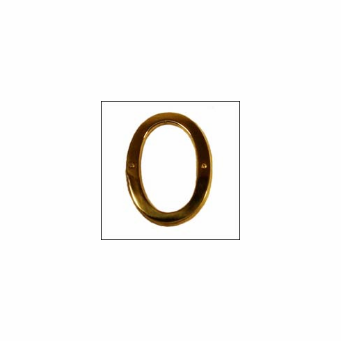 Brass Accents I07-N5500 Traditional Raised Numeral 0 6""