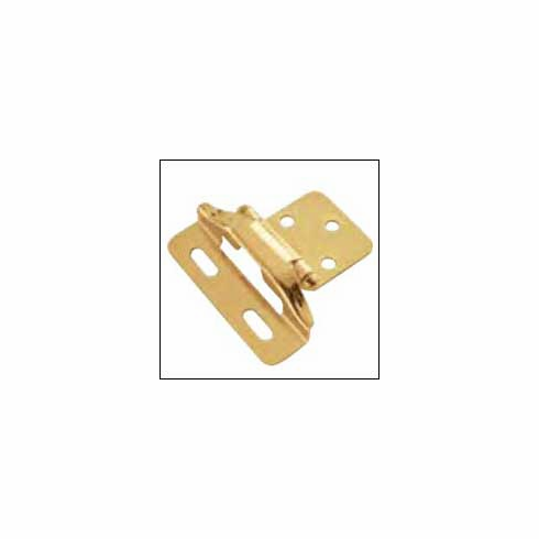 Belwith/Hickory Semi-Concealed P60010F-3  Hinge, Semi-Concealed Polished Brass (EA)