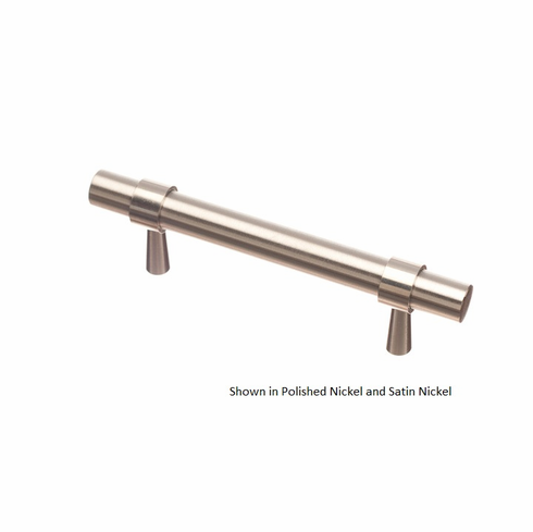 Colonial Bronze 1302 Solid Brass Pull CC- 3 inch Diameter-15/32 inch Overall-4 1/2 inch, Split Finish Item: Posts x Bar
